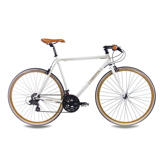 28 Rennrad CHRISSON VINTAGE ROAD 3.0 21 Gang Shimano Tourney weiss