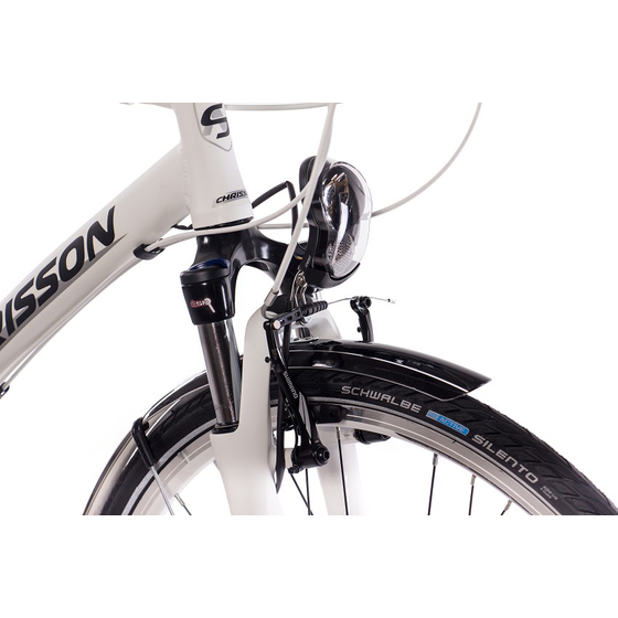 28 Cityrad Herrenrad CHRISSON SERETO 1.0 24 Gang Shimano Acera weiss matt