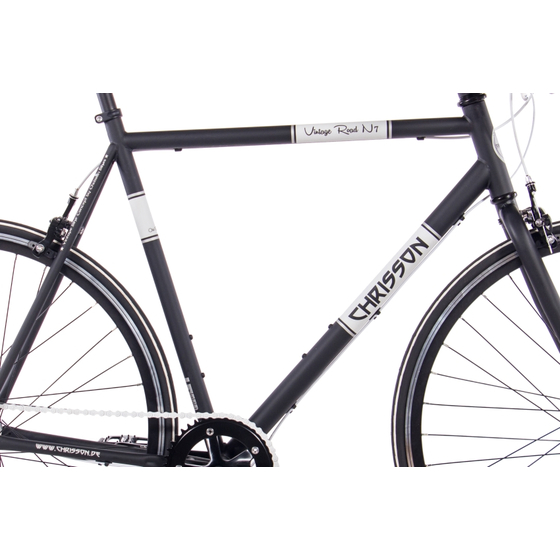 28 Urbanbike CHRISSON VINTAGE ROAD 7 Gang Shimano Nexus schwarz matt