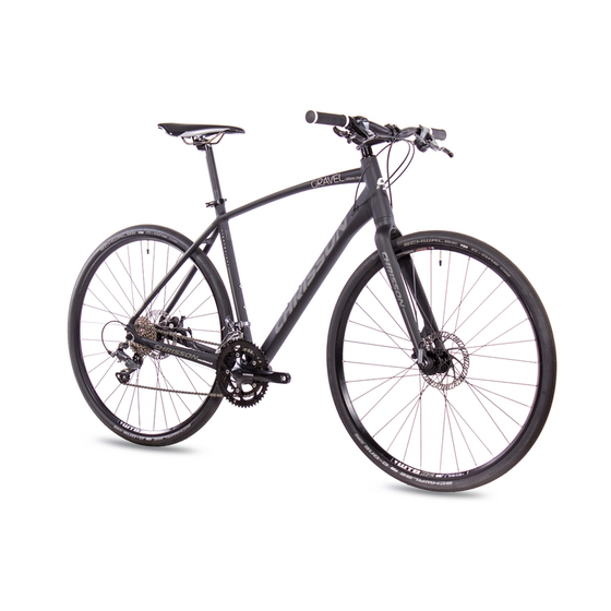 28 Zoll Gravelbike CHRISSON GRAVEL URBAN ONE 16 Gang Shimano Claris schwarz matt