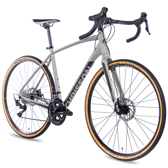 28 Zoll Gravelbike CHRISSON GRAVEL ROAD TWO 22 Gang Shimano 105 hellgrau matt